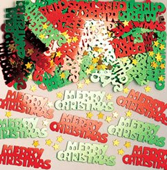 Amscan Merry Christmas Metallic Confetti