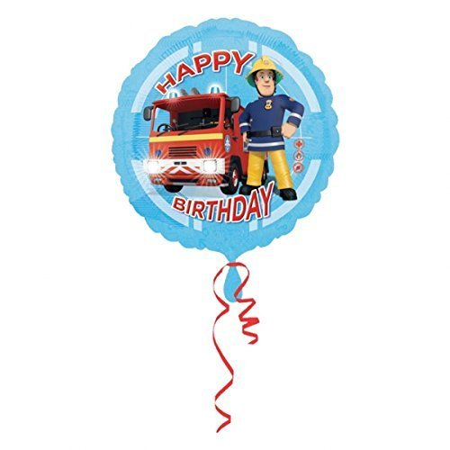 Amscan Fireman Sam Happy Birthday 18 Inch Foil Balloon