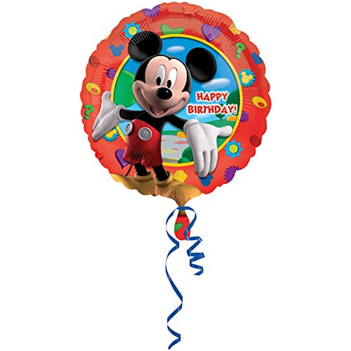"18"" Disney Red Mickey Mouse Clubhouse Circular Foil Balloon"