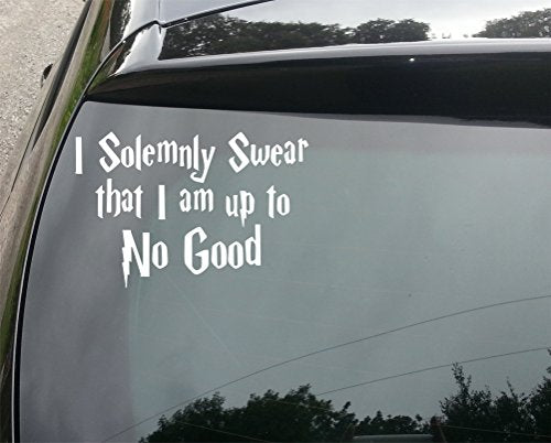 Harry Potter Solemnly Swear Funny Car/Bumper Vinyl Decal Sticker 150mm