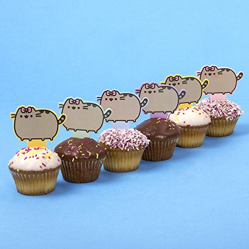 10 Pusheen Cat (Cake Toppers) Cupcake Decorations