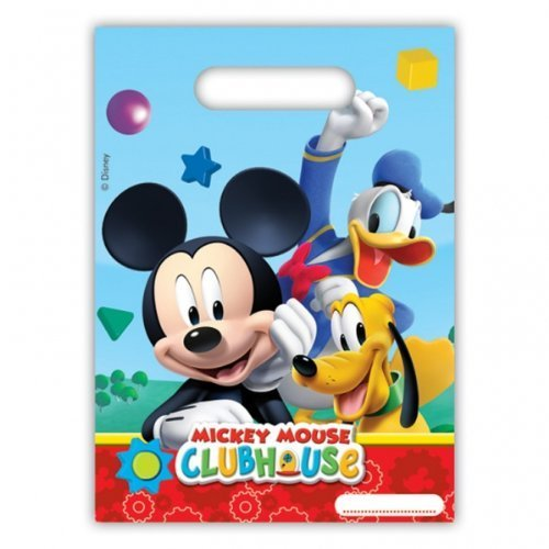 6 Disney Mickey Mouse Clubhouse Party - Playful Mickey Party Loot Bags