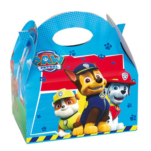 12 x Paw Patrol BLUE Kids Birthday Party Food Gift Boxes