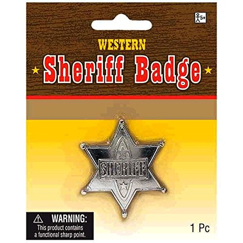 Sheriff Badge Metal Cowboy Cowgirl Fancy Dress Accessory