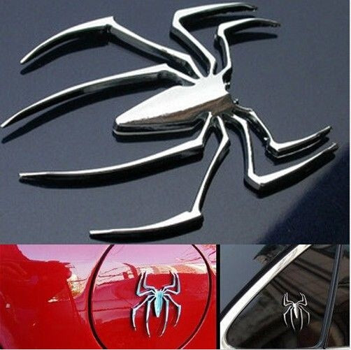 Gold,Silver Metal Spider Shape Emblem Chrome 3D Vinyl Auto/Car Truck Motor Decal Stickers