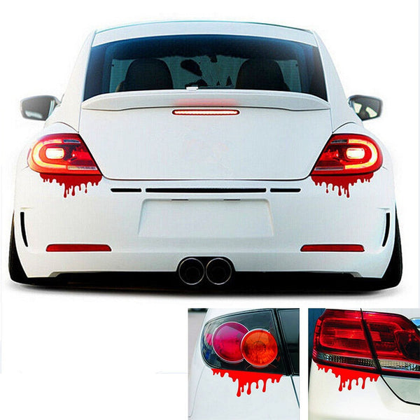 Red Blood Car Stickers Reflective Car vinyl Decals Light Bumper Body Sticker Decal