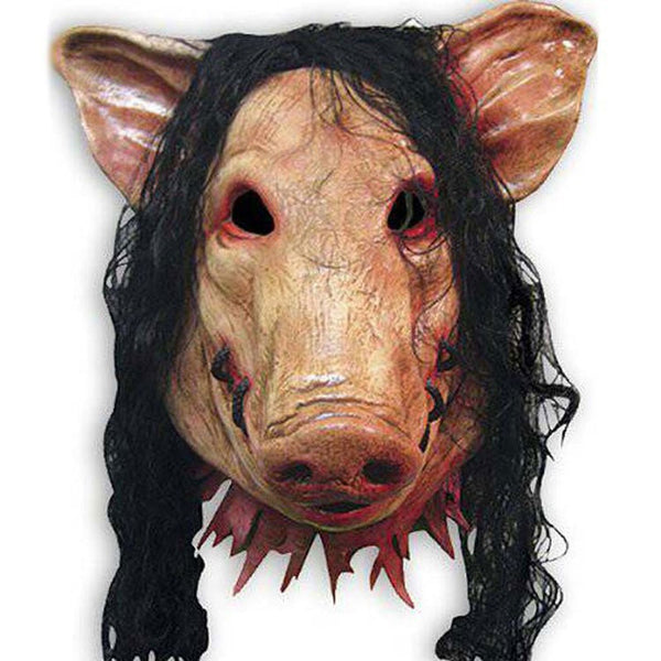 leechenn Halloween Pig Mask Scary Party Carnival Mask Pig With Hair Horror Animal Latex Masks Mascaras Halloween Cosplay Costu-leechenn-SelectionPerfect