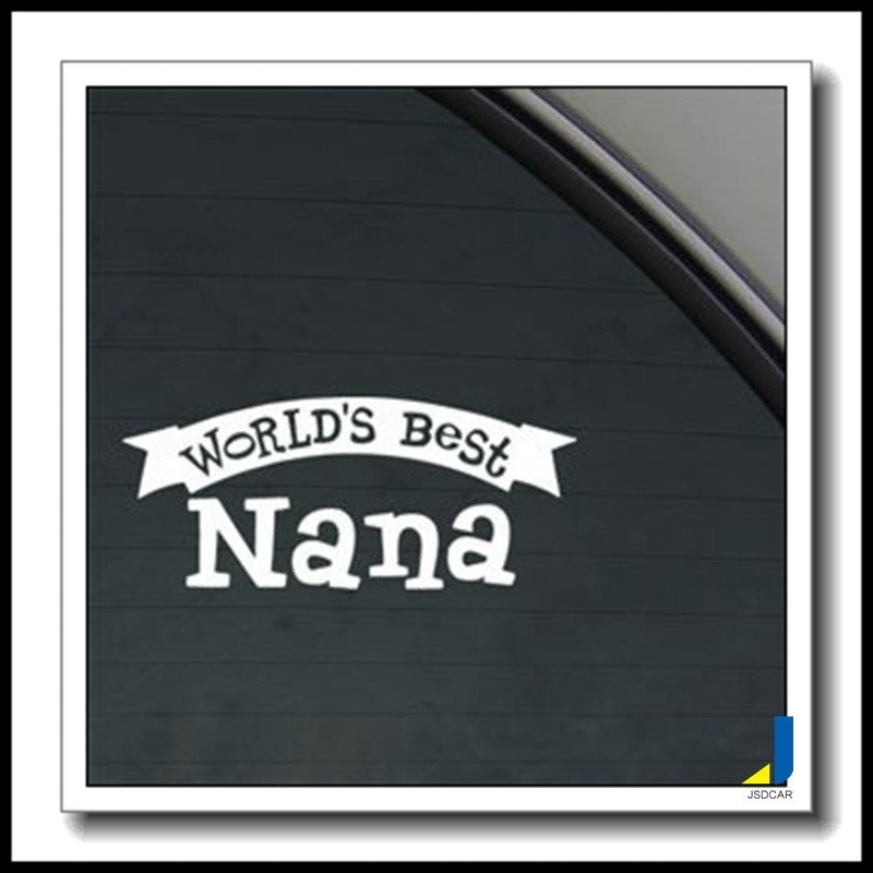 World's Best Nana Decal Personality Filigree Truck Motorcycle Accessories Car Styling Explosion Models Car Stickers JSD-2211 (Si
