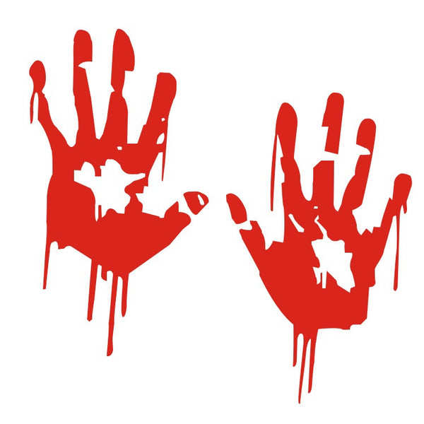 Halloween Funny Car Window Decal Bloody Zombie Hand Prints Sticker Walking Dead T088