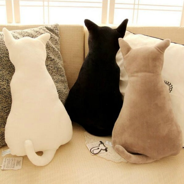 45cm Cute Soft Sitting At Rest Back Shadow Cat Toy Sofa Pillow Seat Cushion Stuffed
