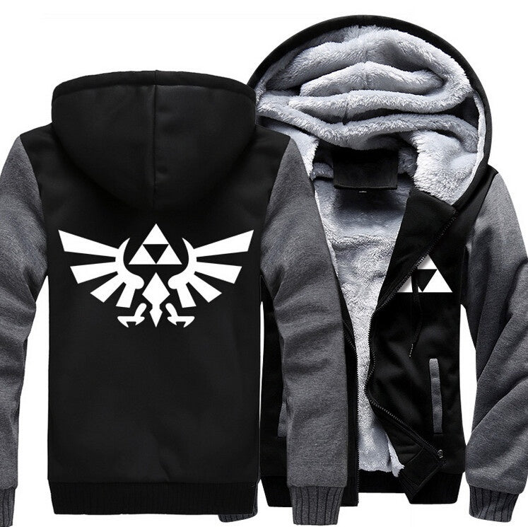 The Legend of Zelda Men Women Cotton-Padded Jacket Sweatshirts Thicken Hoodie Coat Clothing Casual