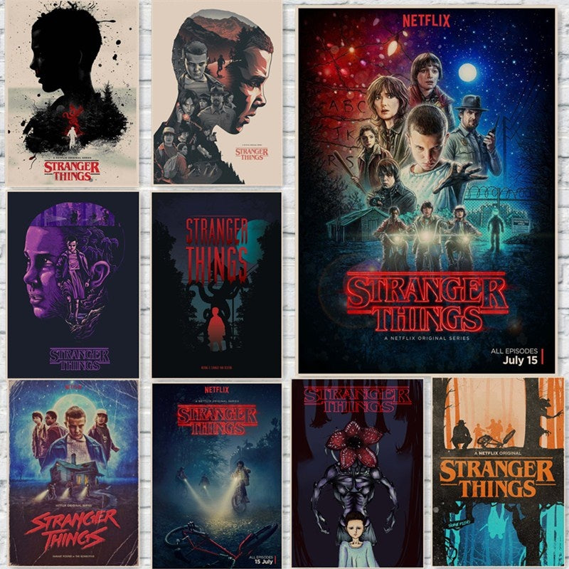 Stranger Things Posters Wall Stickers Home Decoration TV Show Prints Abooly Brand 42*30cm