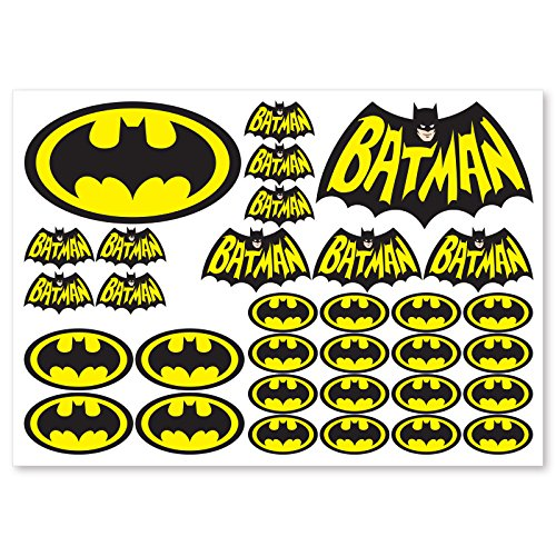 32 Colour Dc Batman Vinyl Decal Stickers