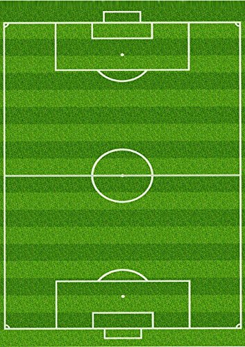 image relating to Printable Edible Cake Toppers titled 1 x A4 Revealed Soccer Pitch Wallpaper Decor Icing Sheet Edible Cake Topper Adorned Sheet - Ideal for Huge Cakes toward make a soccer scene