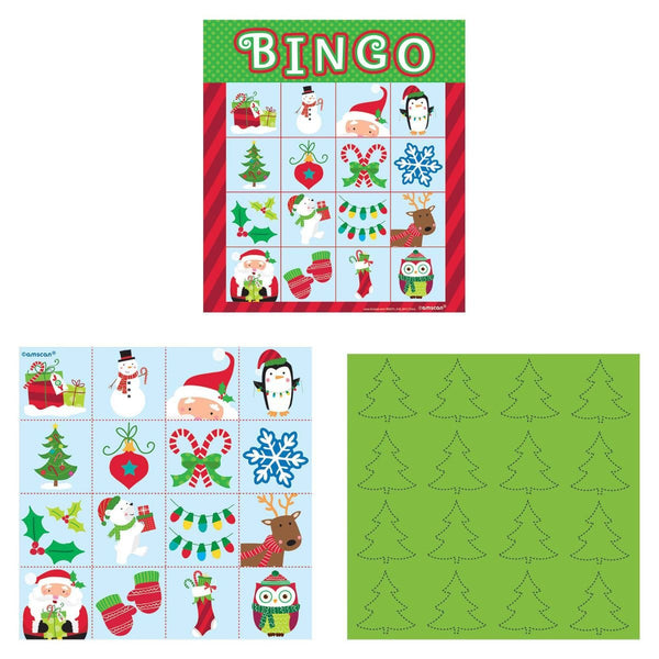 Amscan Christmas Bingo Game Party Supplies