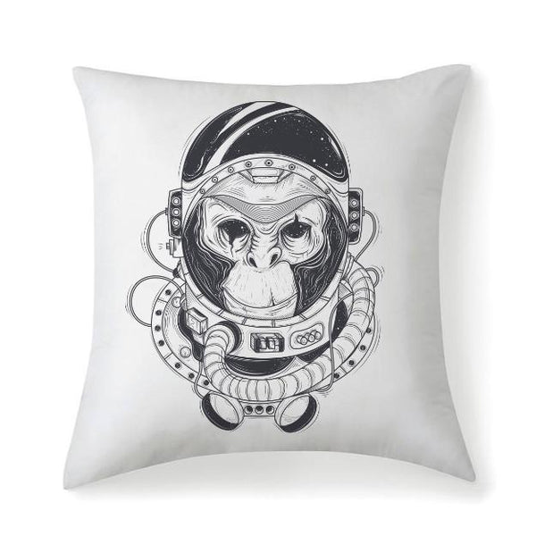 Selection Perfect Vintage Space Monkey Multisized Premium Microfiber Fabric Throw Square Pillow Covers High Elastic Polypropylene Cotton