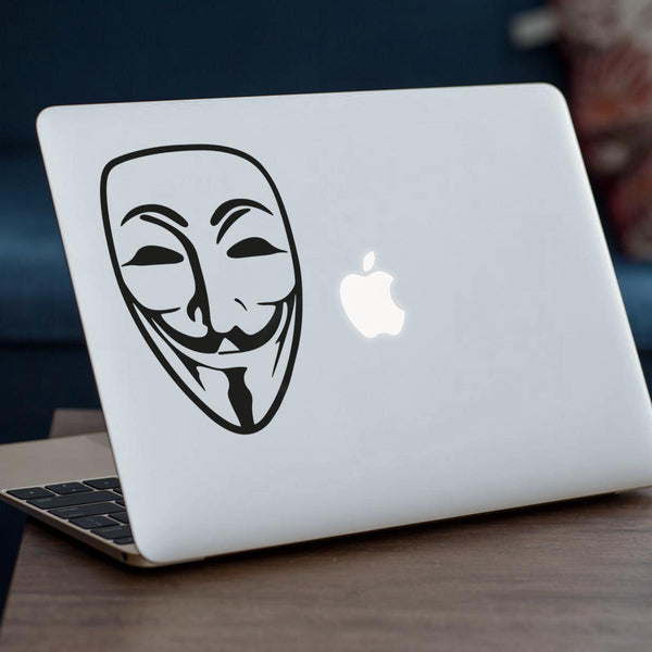 Anonymous  Mask Vinyl Sticker For MacBook Ipad