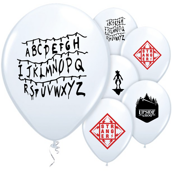 "8 Stranger Things Balloons 12"" Latex Party"