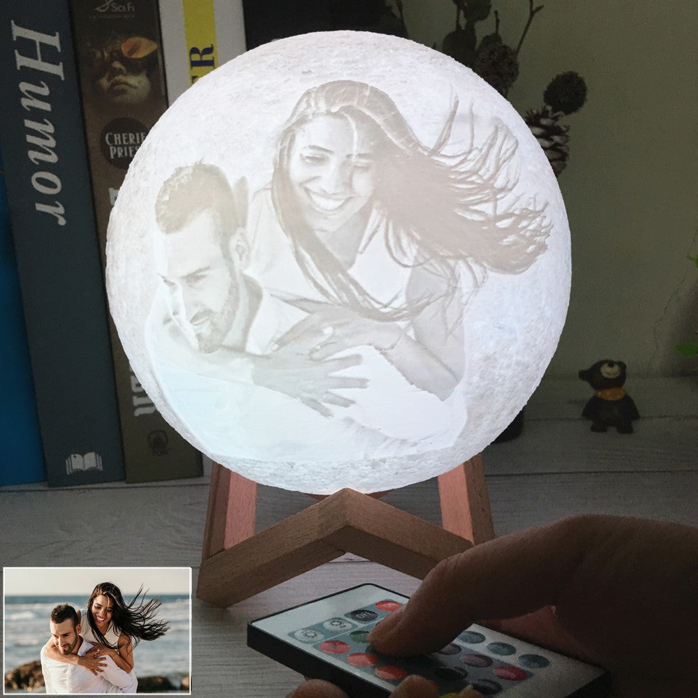 Personalised 3D Moon Lamp Photo Or Message