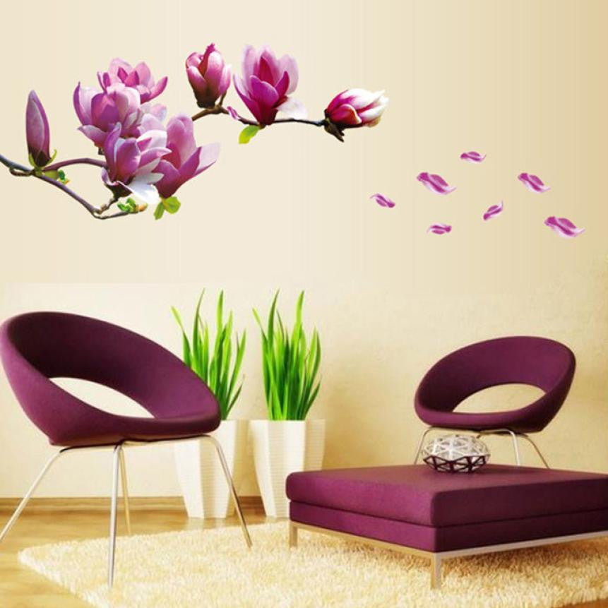 Purple Orchid Flower Vinyl Decal Sticker