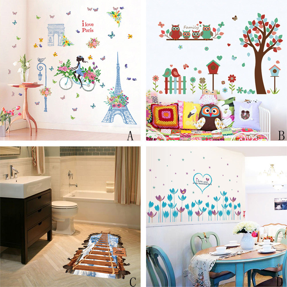 wall stickers for kids rooms Home Decor Mural Decal DIY Vinyl Wall Stickers For Kids Rooms vinilos paredes