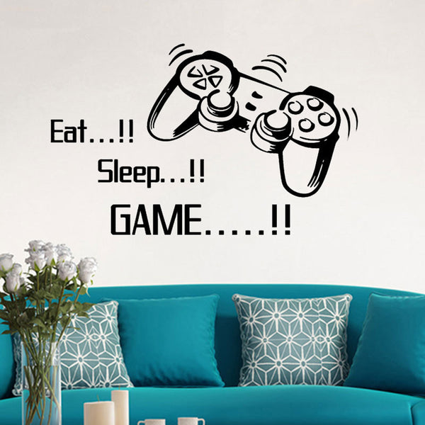Eat Sleep Game Vinyl Decal Wall Sticker