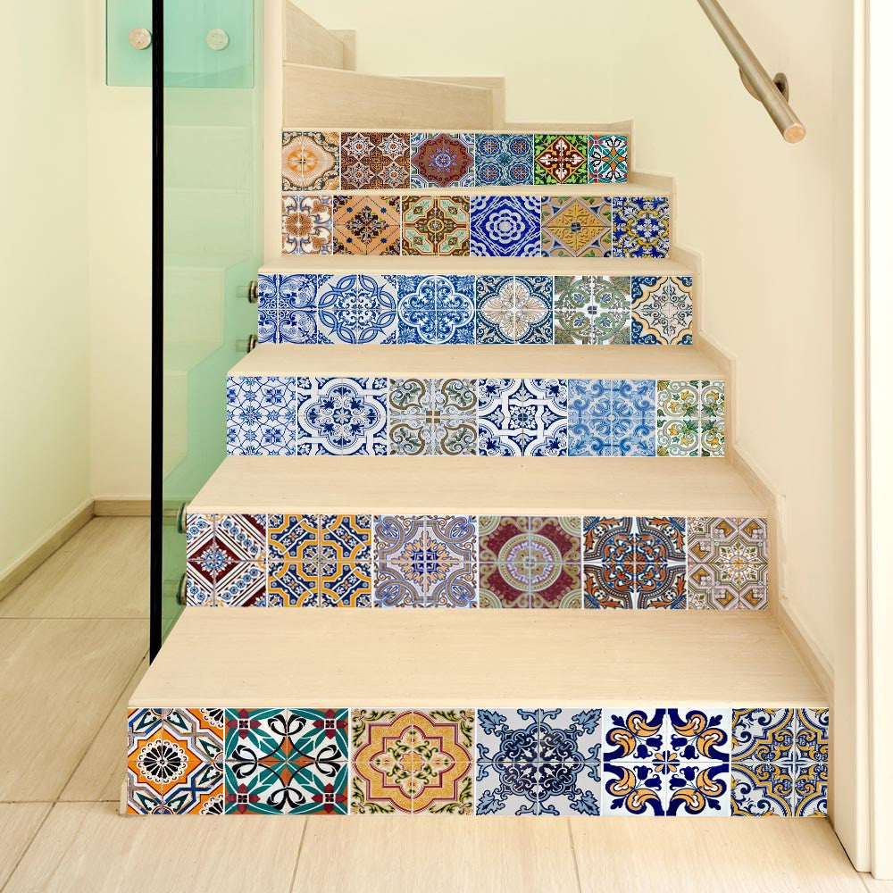DIY Steps Sticker Removable Stair Sticker Home Decor Ceramic Tiles Patterns