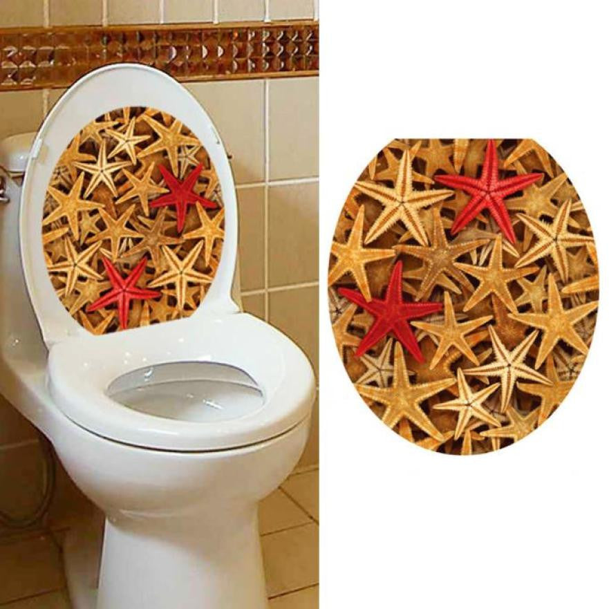 Starfish Sealife Removable Toilet Seat Sticker