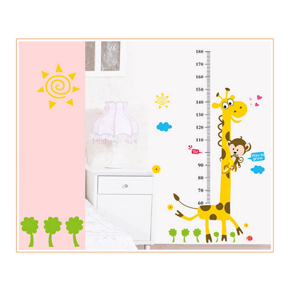 Baby Giraffe Height Growth Wall Chart Decal