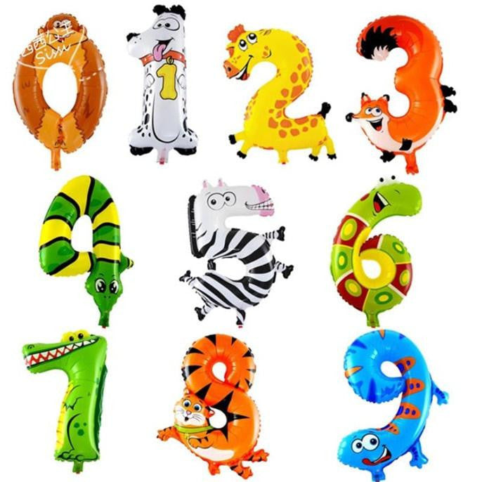 "Animal zoo Number 18"" Foil Balloons-selectperfection-SelectionPerfect"