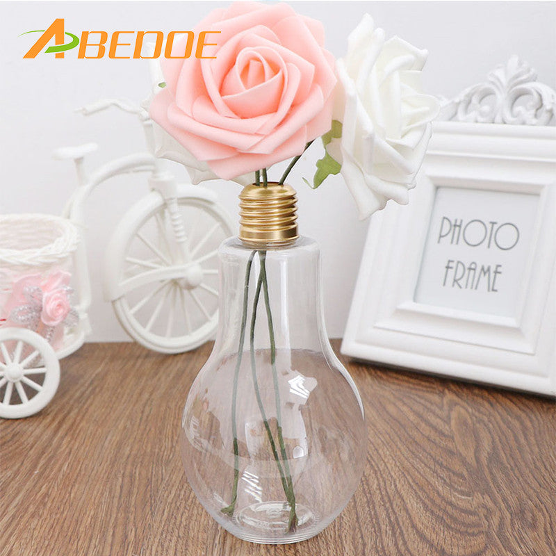 ABEDOE High quality Hot Sale creative cute travel outdoor light lamp bulb fruit juice milk flower tea Water bottle For Flower
