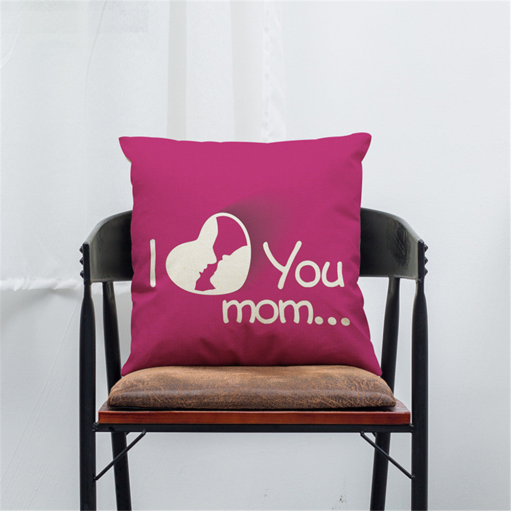 I Love You Mom Sofa Bed Home Decoration Festival Pillow Case Cushion Cover-gamesandgeeks-SelectionPerfect