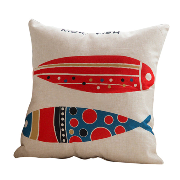 Abstract Fish Natural Cushion Cover