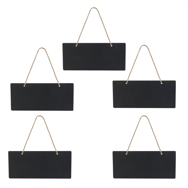 5pcs Mini Rectangle Chalkboards Double Sided