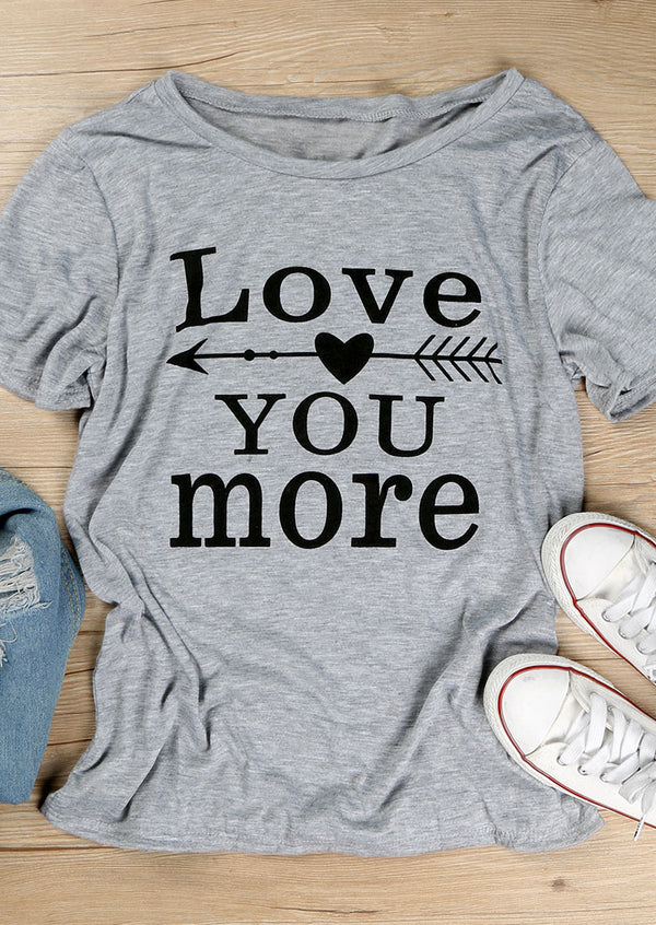 Love You More Arrow T-Shirt bride tribe squad wedding