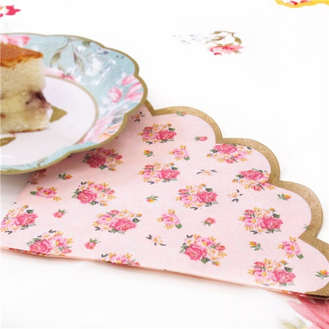 Truly Scrumptious Vintage Scalloped Edge Napkins 2ply paper Party Tableware