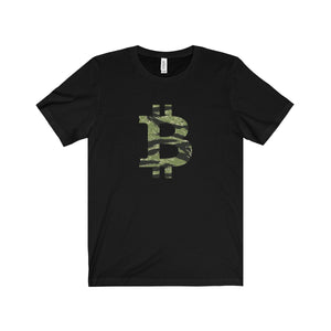 "Bitcoin Big ""B"" Tiger Camo T-Shirt"