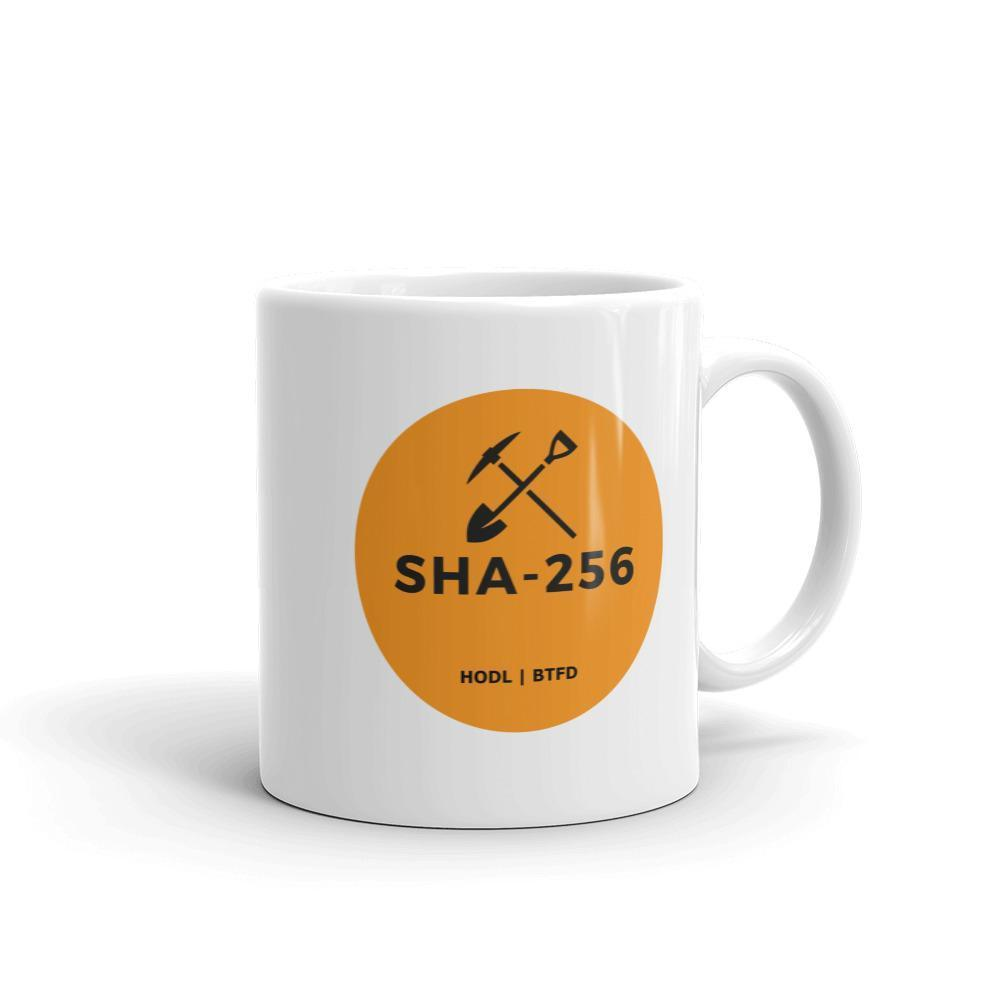 Bitcoin SHA-256 Miners Only Orange Iconic Mug
