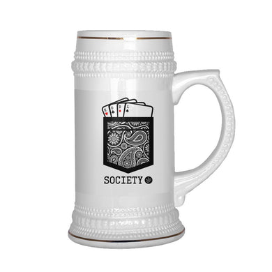 HODL Society Winning Hand Beer Stein