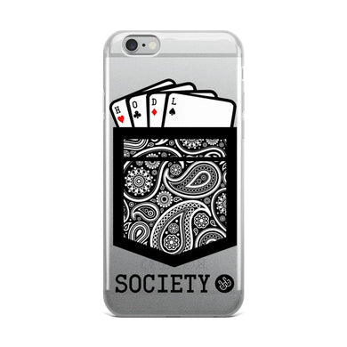 HODL Society Winning Hand iPhone Case