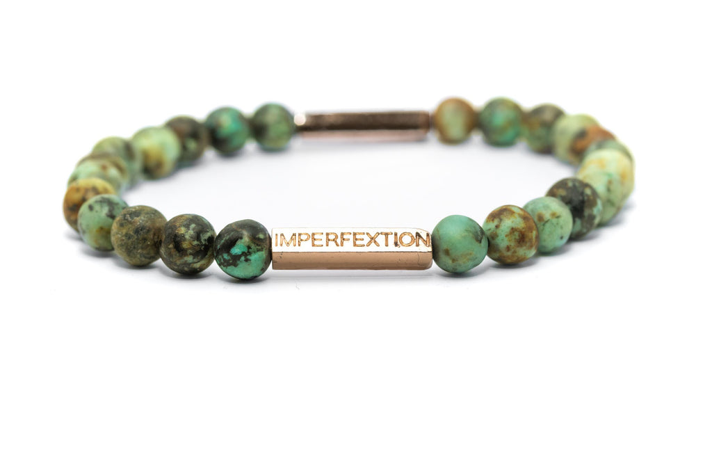 TIME-HONORED(2018 SPRING SEASON) MATTE AFRICAN TURQUOISE IMPERFEXTION BRACELET