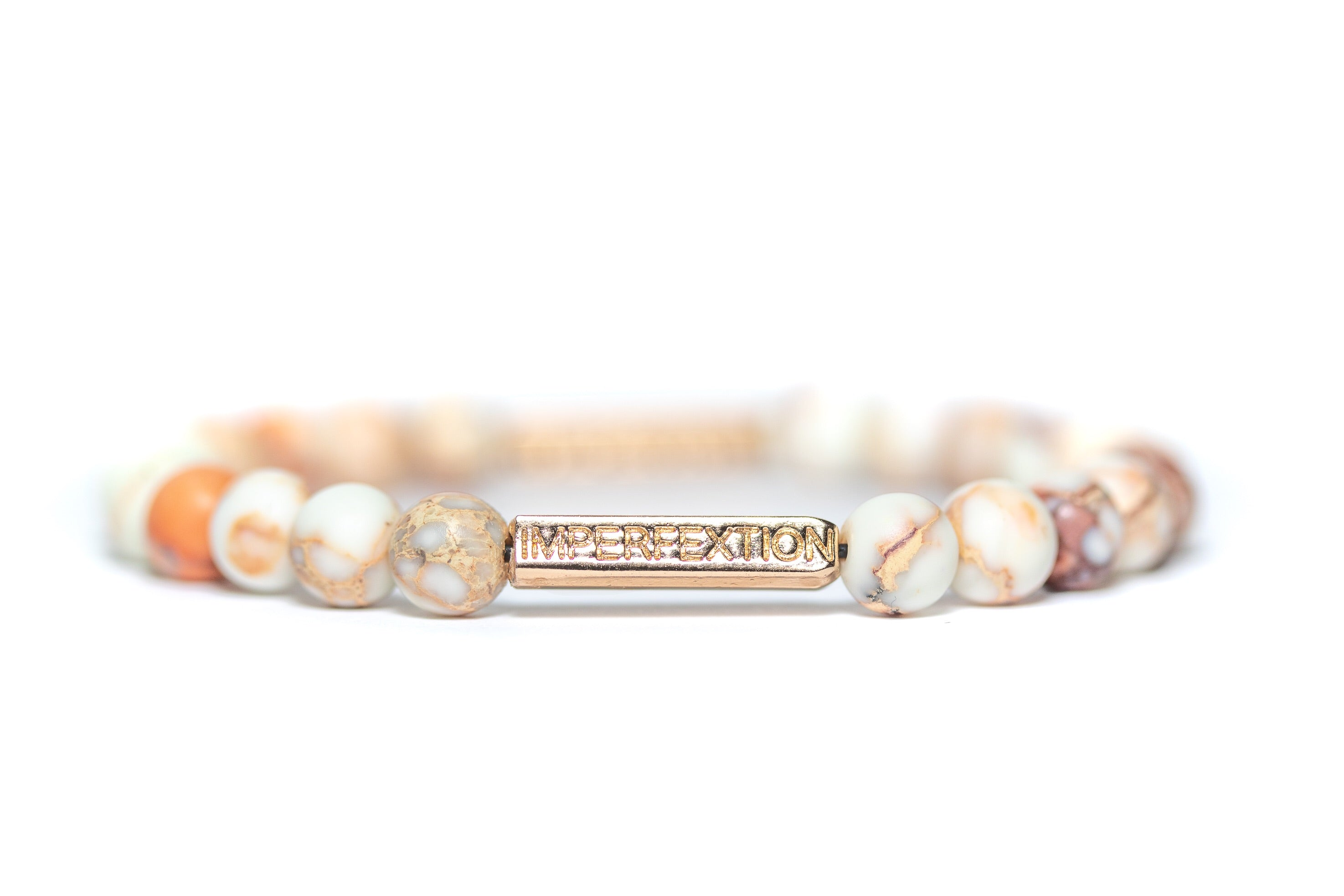 (2019 SPRING SEASON) MATTE SEA SEDIMENT JASPER IMPERFEXTION BRACELET