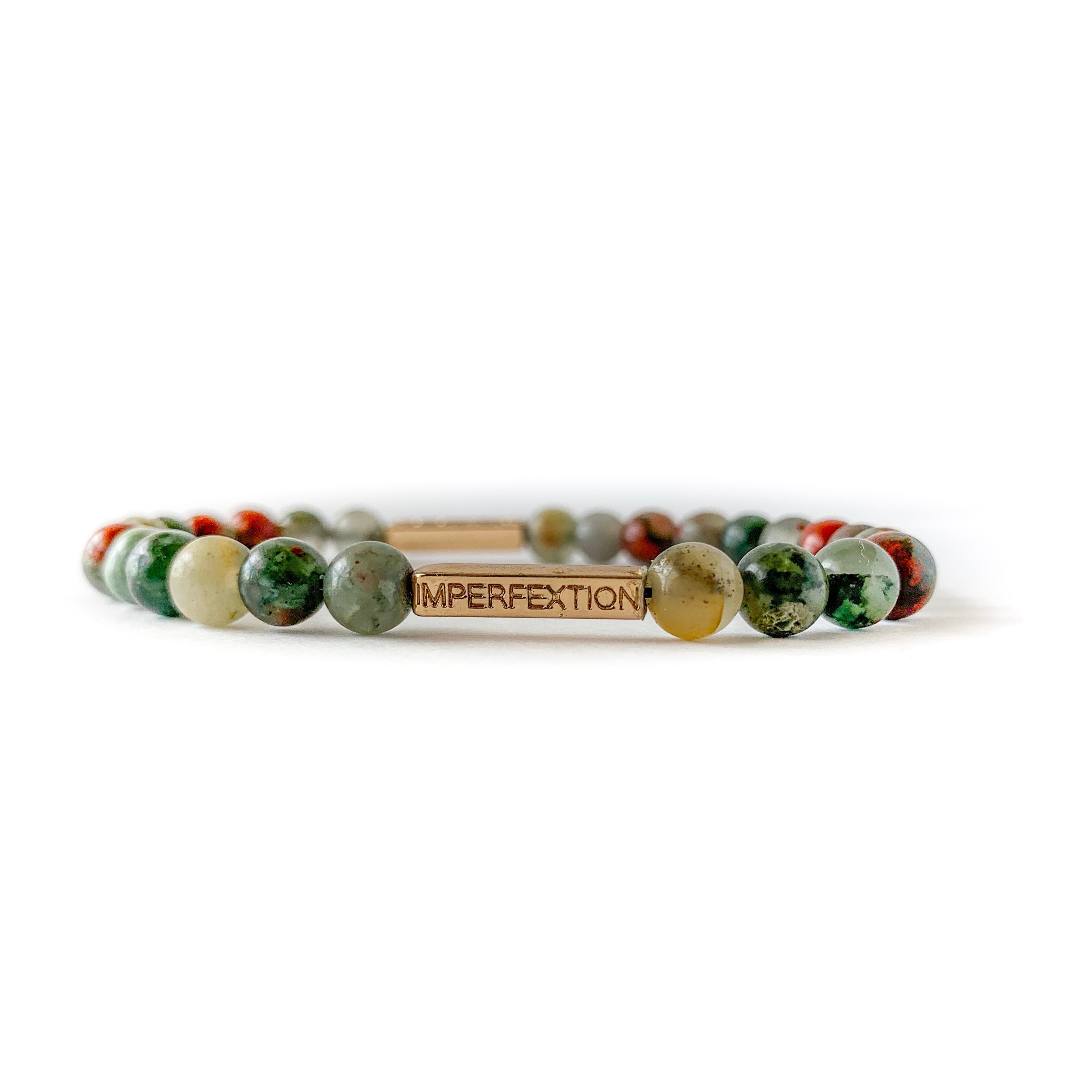 (2019 FALL SEASON) AFRICAN BLOOD AGATE IMPERFEXTION BRACELET