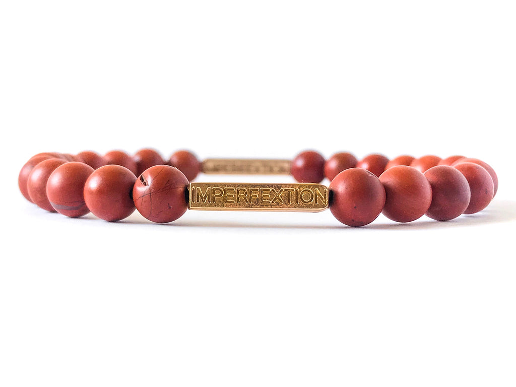 TIME-HONORED(2017 FALL SEASON) MATTE RED JASPER IMPERFEXTION BRACELET