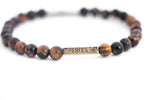 """The Guardian""(2/3 ORIGINAL) GLOSS TIGER'S EYE IMPERFEXTION BRACELET"