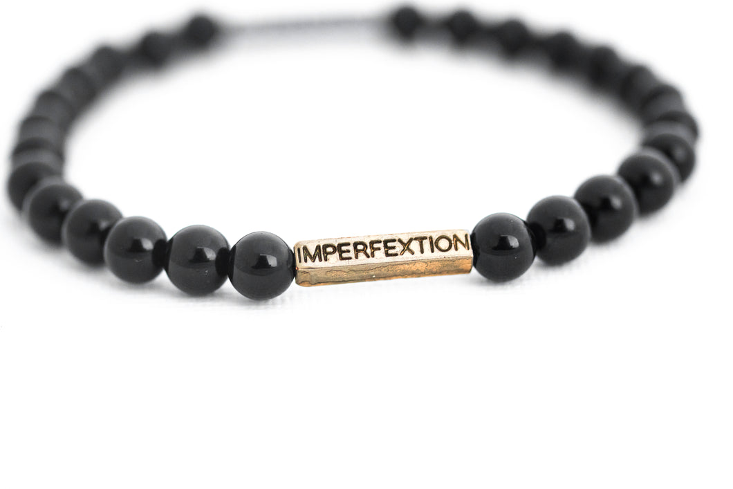 GLOSS BLACK ONYX IMPERFEXTION BRACELET