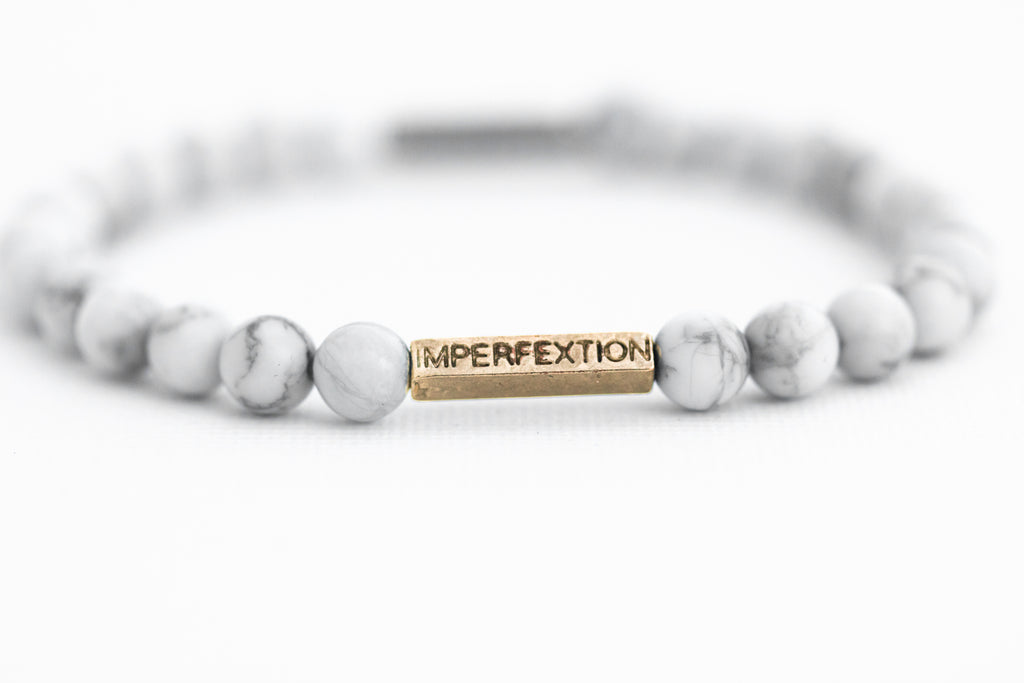 """The Peace""(3/3 ORIGINAL) MATTE WHITE HOWLITE IMPERFEXTION BRACELET"