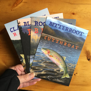 Montana's Four Rivers & Trout 5x7 art prints