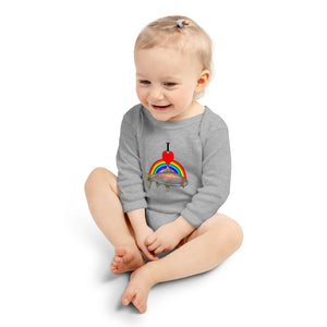 I Heart Rainbow Trout Infant Long Sleeve Bodysuit