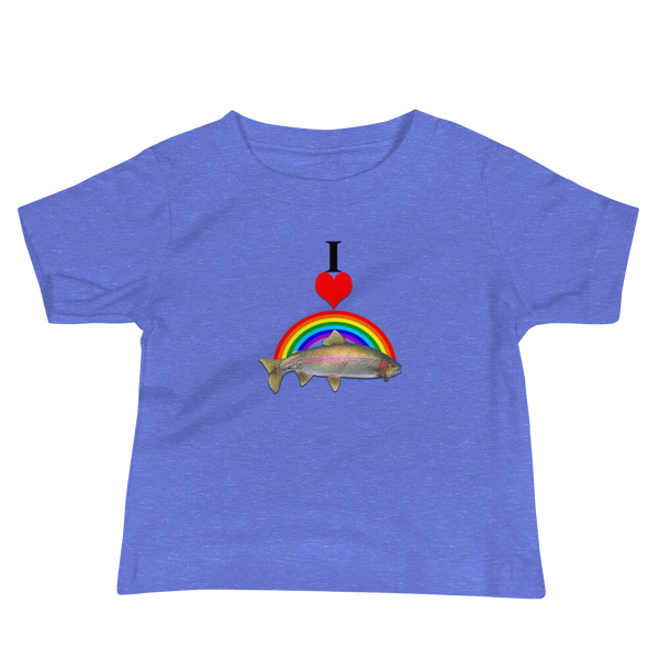 I Heart Rainbow Trout Baby T-Shirt in cotton